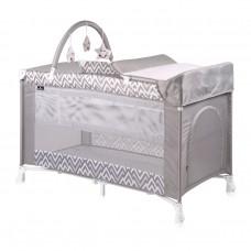 Lorelli Verona Baby Travel Cot Grey Lines