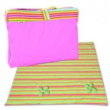 Minene Picnic Mat & Bag Pink