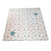 Minene Picnic Mat & Bag Pink with stars