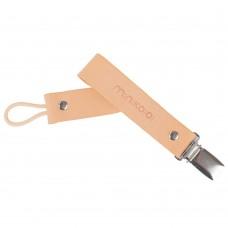 Minikoioi Leather Pacifier Clip, Unicorn Pink