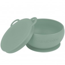 Minikoioi Silicone Baby Bowl with Lid Bowly River Green