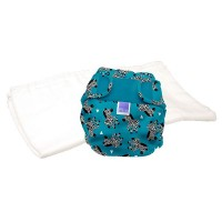 Bambino Mio Miosoft two-piece nappy Trial Pack Zebra crossing