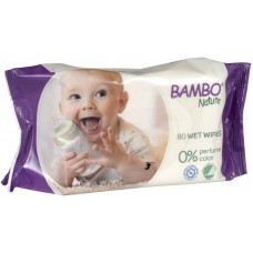 Bambo Nature Baby Wet Wipes, 80 pcs.