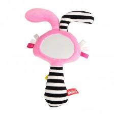 Mom's care Мека играчка огледало - пискун с уши Розово