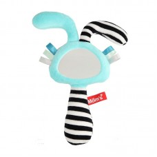 Mom's care Мека играчка огледало - пискун с уши Синьо