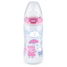 NUK First Choice РР Termo control 300 ml silicone teat Peppa Girl