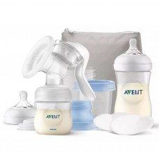 Philips Avent Manual Breast Pump Set Natural Motion with VIA Storage Cups