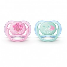 Philips Avent Ultra Air pacifier 0-6m, Girl - Tree