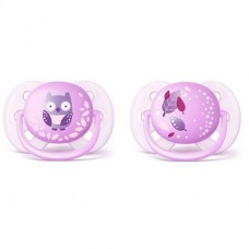 Philips Avent Ultra soft pacifiers 0-6m, Girl Owl