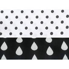 Stroller liner White Black Dots