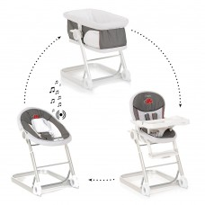 iCoo-Hauck Grow With Me 1-2-3 high chair, Bug Grey