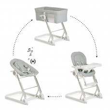 iCoo-Hauck Grow With Me 1-2-3 high chair, Silver