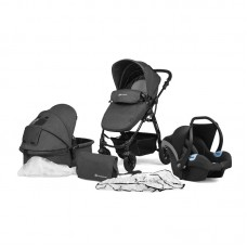 KinderKraft Moov Travel System 3 in 1 Black