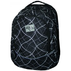 Kaos School backpack 2 in 1 White on Black
