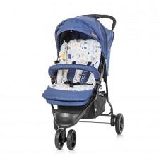 Chipolino Детска лятна количка Ноби синьо индиго