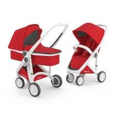 Бебешка количка Greentom Classic 2 в 1, Red