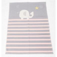 David Fussenegger Бебешко одеяло от органичен памук Lena Розово Слонче
