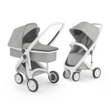 Бебешка количка Greentom Classic 2 в 1, Grey