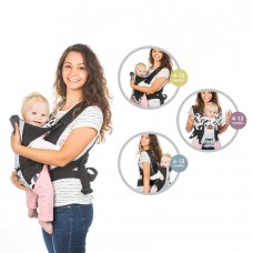 Chipolino Baby carrier Dino gray black