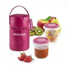 Miniland Комплект контейнери Pack-2-Go розов
