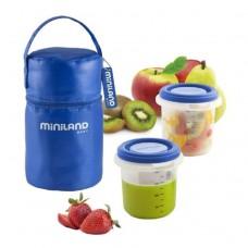 Miniland Комплект контейнери Pack-2-Go син