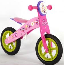 E&L cycles Disney Minnie Bow-Tique wooden balance bike 12 inch