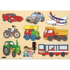 Wooden Puzzle Vehicles
