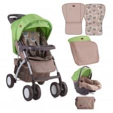 Lorelli Baby stroller Rio Set Beige&Green lambs