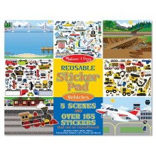 Melissa & Doug Reusable Sticker Pad - Vehicels