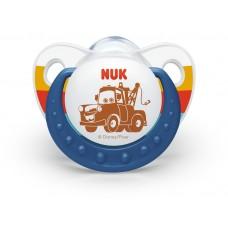 Силиконова залъгалка 18 м + Cars - Nuk