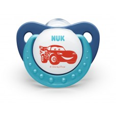 Nuk Silicone Pacifiers Cars 0-6 m
