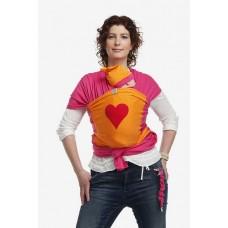 Bykay Слинг-шал дизайн Fuchsia със сърце