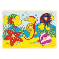 Goki Пъзел с дръжки - морско конче мида Puzzles Seahorse Shell