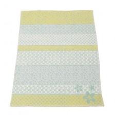 David Fussenegger Бебешко одеяло Lena 75х100 Цветя синьо-зелено