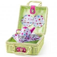 Woody Picnic Basket with tea set