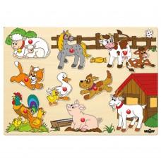 Wooden Puzzle Farm Animals