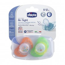 Chicco Silicone Physio Air Night Soother 6-12m