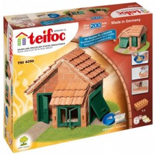 Teifoc Model House With Tiles Brick Construction Toy Set