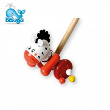 Beluga Wooden push toy, Zebra