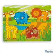 Puzzle Multicolor - Jungle - Andreu Toys