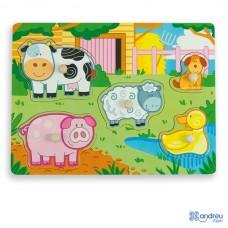 Puzzle Multicolor - Farm - Andreu Toys