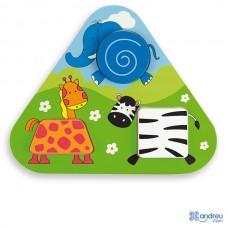 Puzzle Triangular - Jungle - Andreu Toys