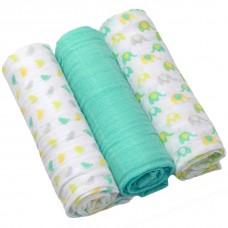 BabyOno Muslin Nappies Super Soft 3 pcs Mint