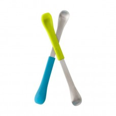 Boon Swap Baby Utensils, 2-Pack Green/Blue