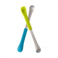 Boon Swap двойни лъжички с мек и твърд край 2 броя, Зелена и Синя