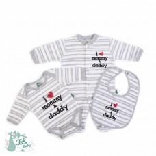 F.S.Baby Babygrow + body + bib