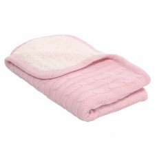 Kikka Boo Плетено одеяло с шерпа Розово