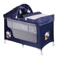 Lorelli San Remo Blue Good night Bear Baby Travel Cot