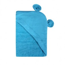 Minene Hooded Newborn Towel Blue