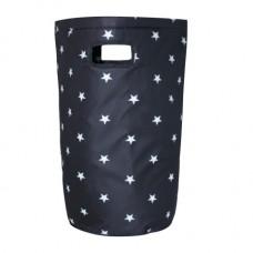 Laundry Basket - Minene Black Stars